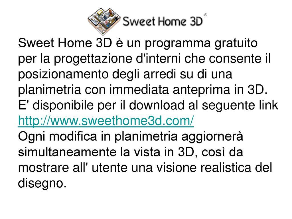 Sweet home 3d un programma gratuito per la progettazione for Programma per arredare in 3d