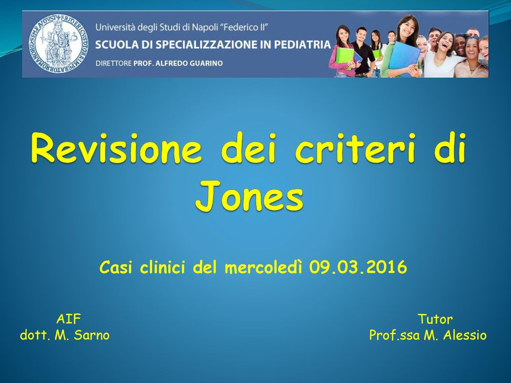 Revisione dei criteri di Jones
