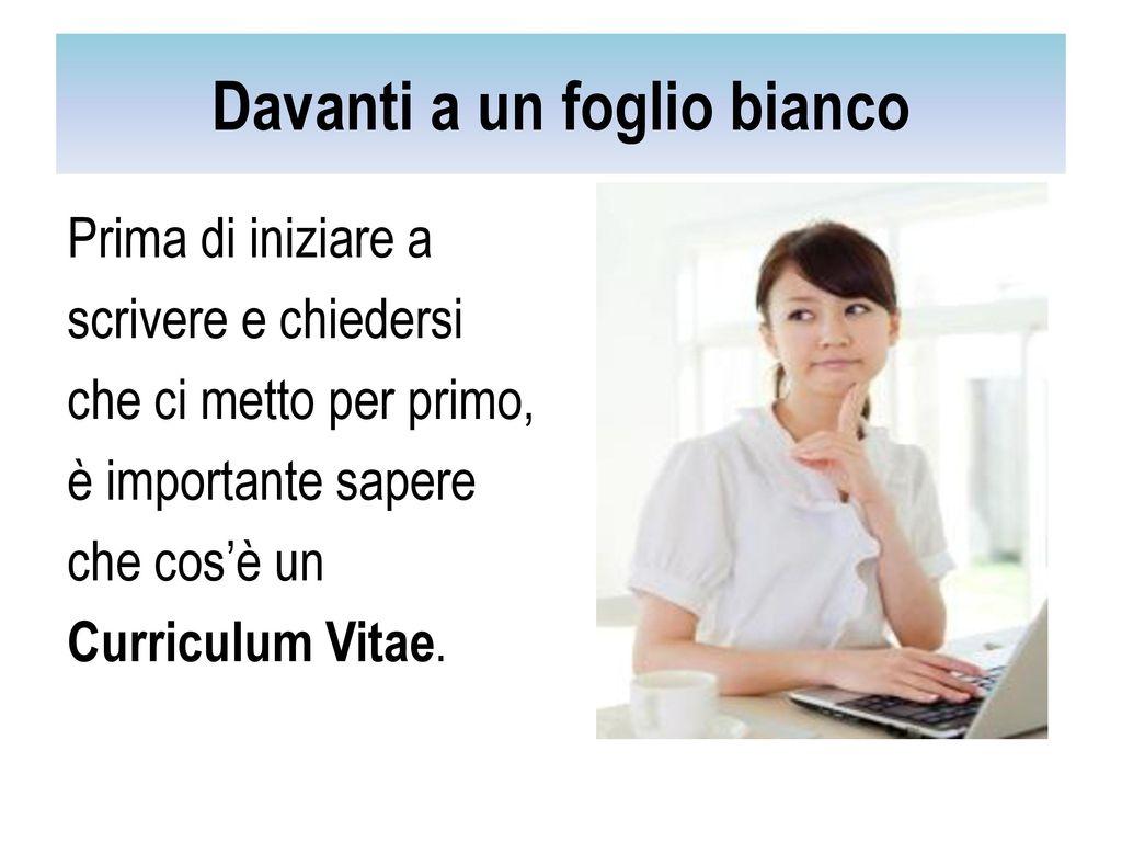 Curriculum Vitae E Scriverlo Cosa Scriverci Ppt Scaricare
