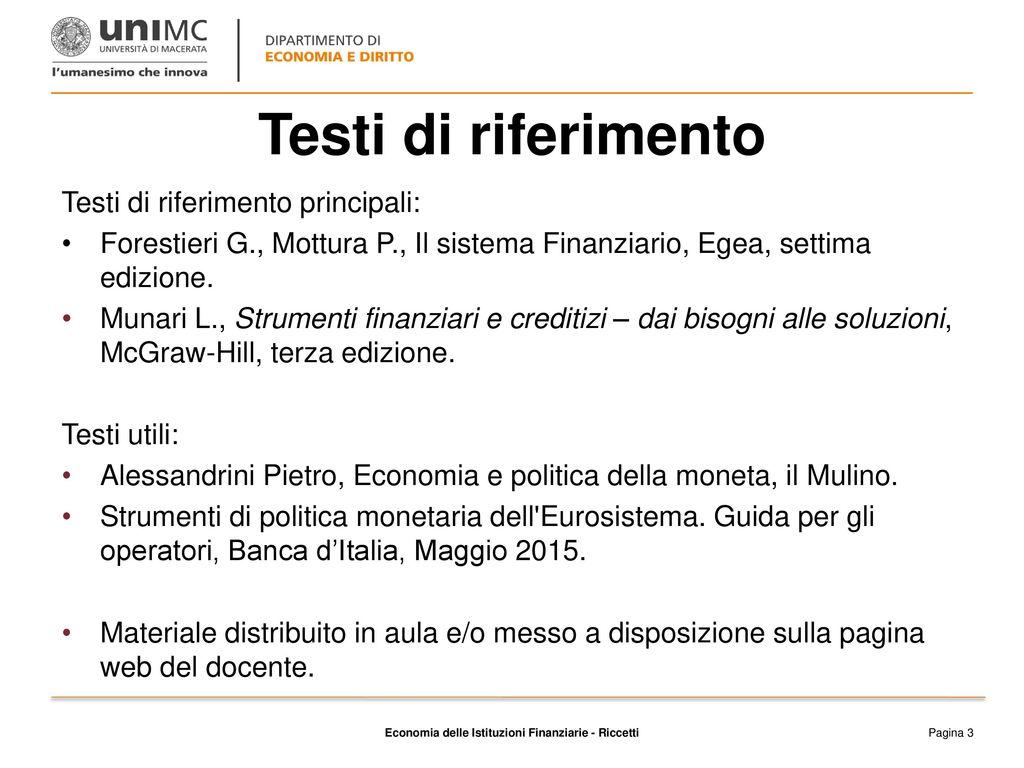 munari strumenti finanziari  Le funzioni del sistema finanziario - ppt scaricare