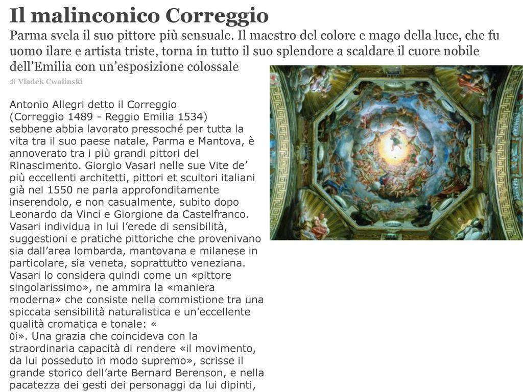 Colori In Luce Correggio il malinconico correggio - ppt scaricare