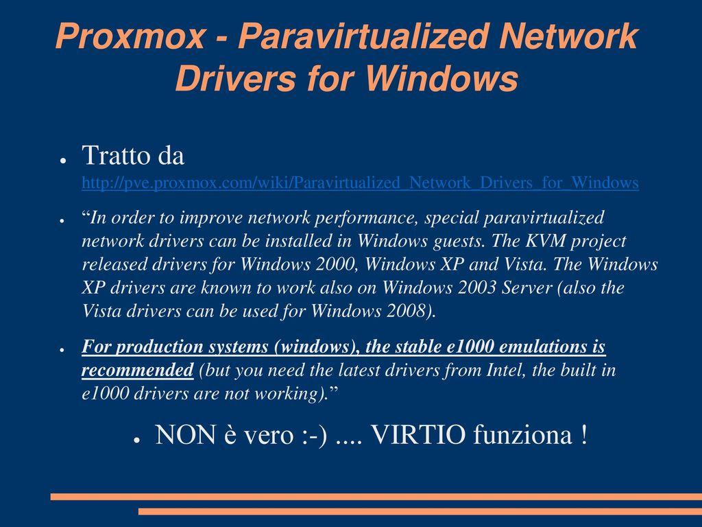 PVE Proxmox per virtualizzare ppt scaricare