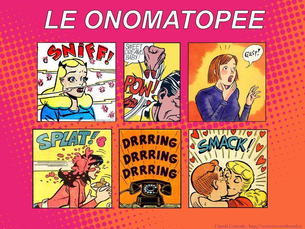 Bildergebnis für il linguaggio dei fumetti le onomatopee