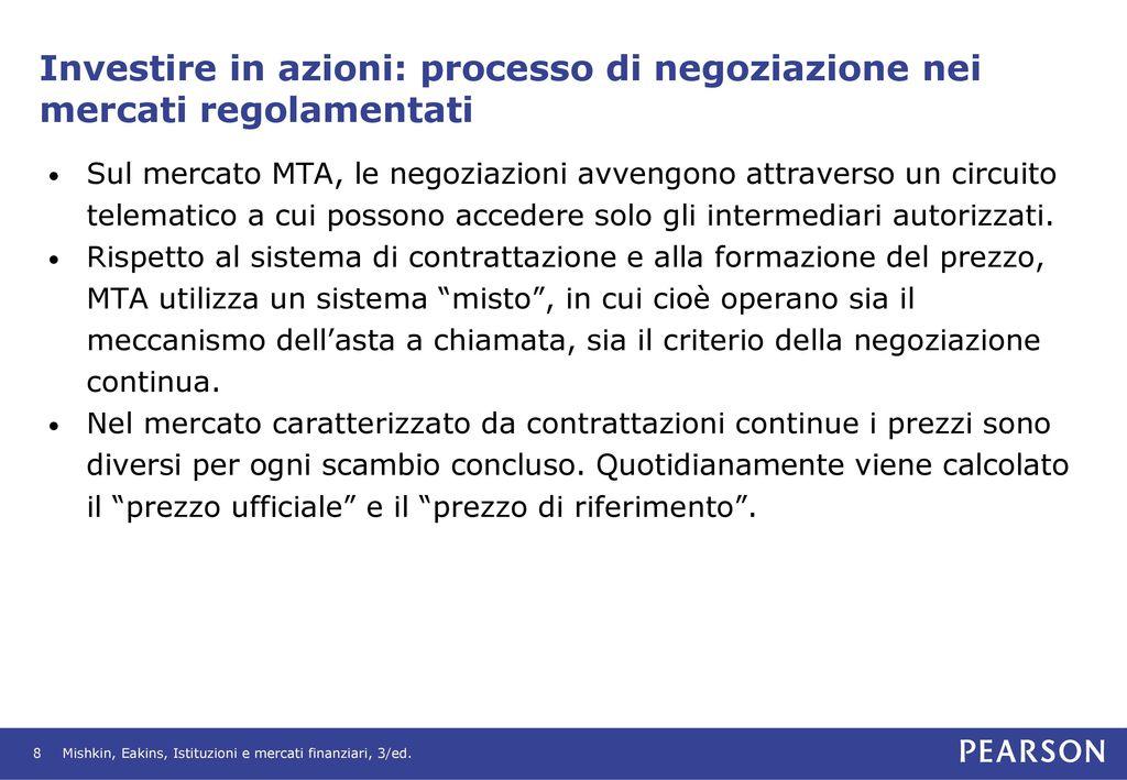 fd0ab440ab Investire in azioni: processo di negoziazione nei mercati regolamentati