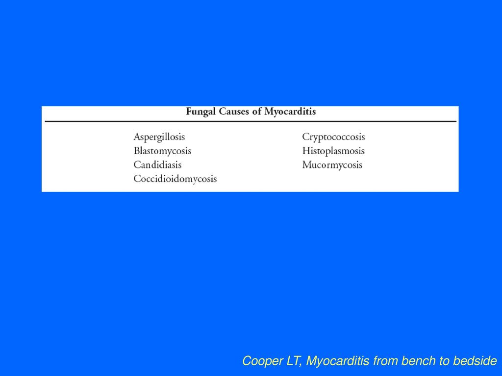 Cooper LT, Myocarditis from bench to bedside