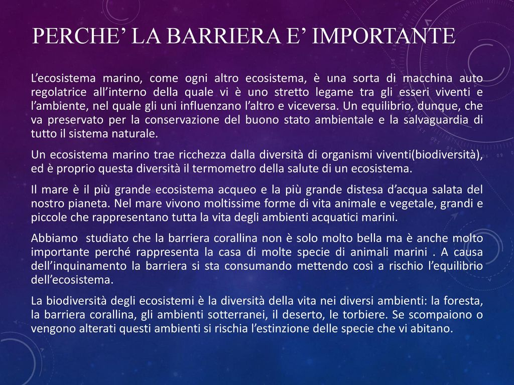PERCHE' LA BARRIERA E' IMPORTANTE