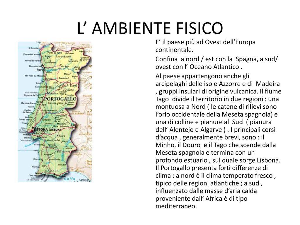Cartina Fisica E Politica Del Portogallo.Portogallo Ppt Scaricare