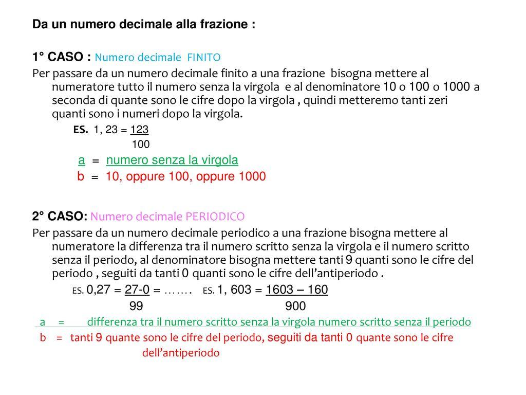 Frazioni E Numeri Decimali Ppt Scaricare