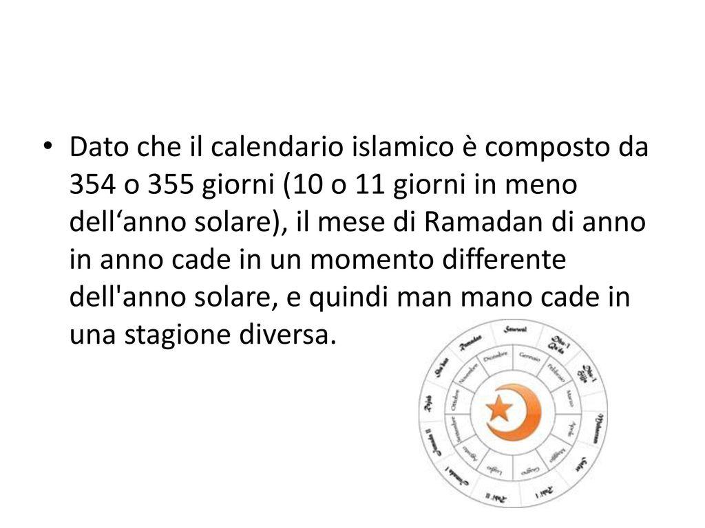 Il Calendario Islamico.Ramadan Ppt Scaricare