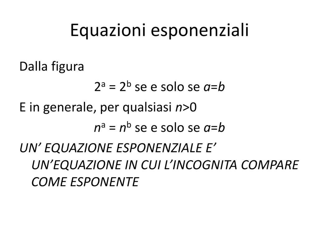 Equazione esponenziali scarica