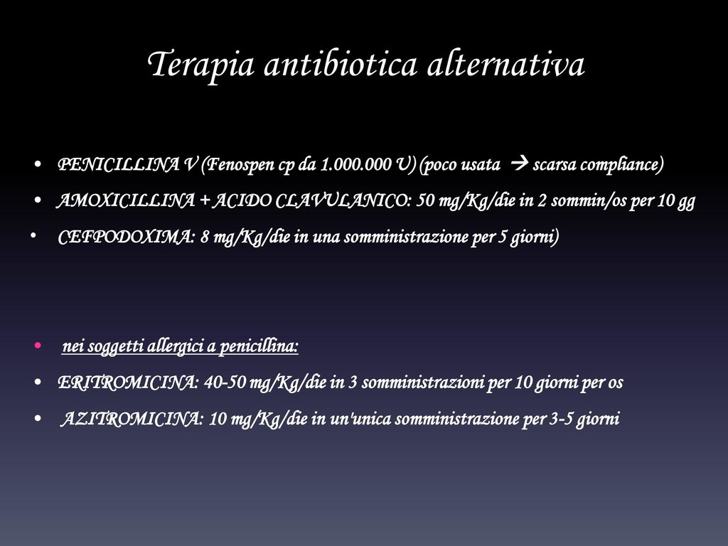 Terapia antibiotica alternativa