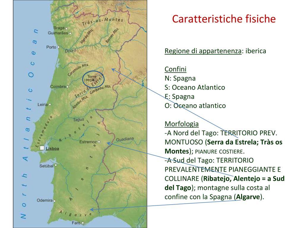 Cartina Spagna Politica E Fisica.Cartina Portogallo Politica E Fisica