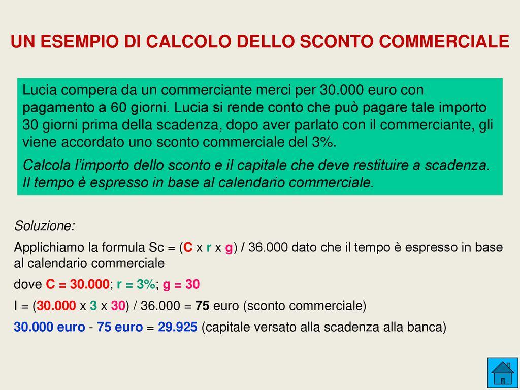 Calcolo Giorni Calendario.Interesse Sconto Montante E Valore Attuale Ppt Scaricare