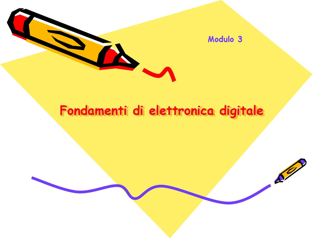 Fondamenti di elettronica digitale
