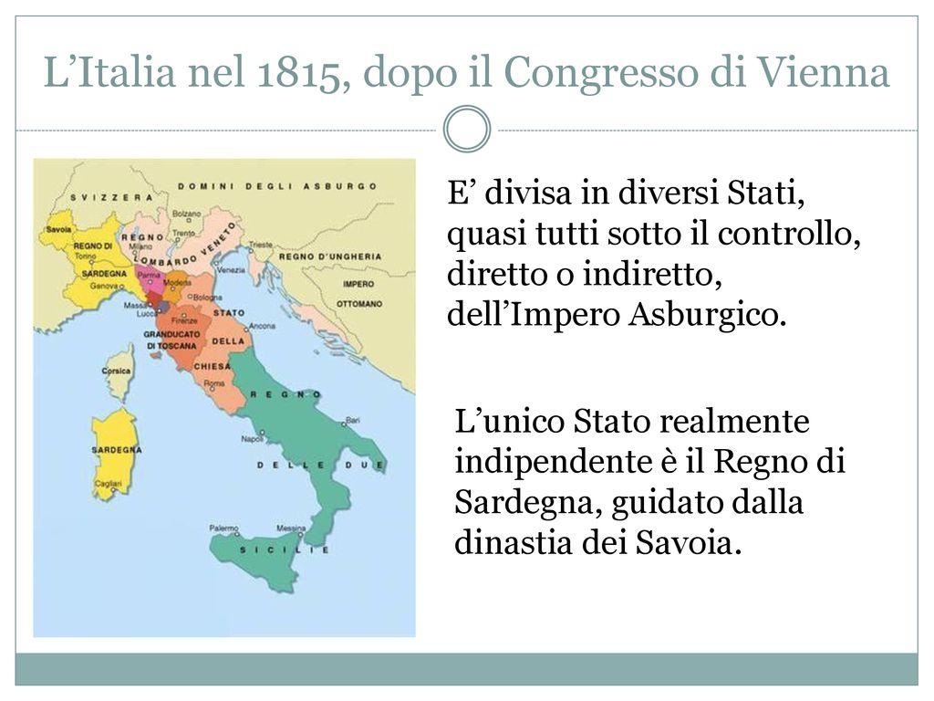 Cartina Dell Italia 1815.Il Risorgimento E L Unita D Italia Ppt Scaricare
