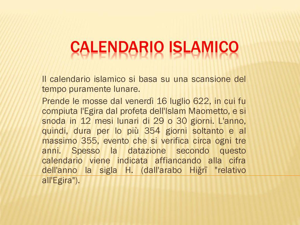 Il Calendario Islamico.Uda 0 Le Unita Di Misura Classe 1e Ppt Scaricare