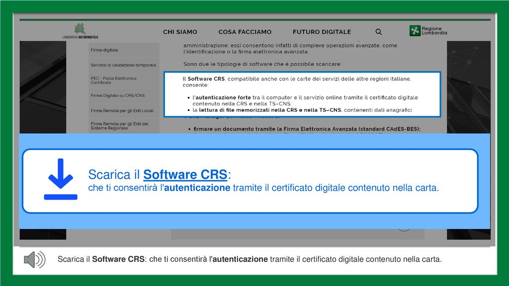 SOFTWARE CRS LOMBARDIA WINDOWS 10 SCARICA