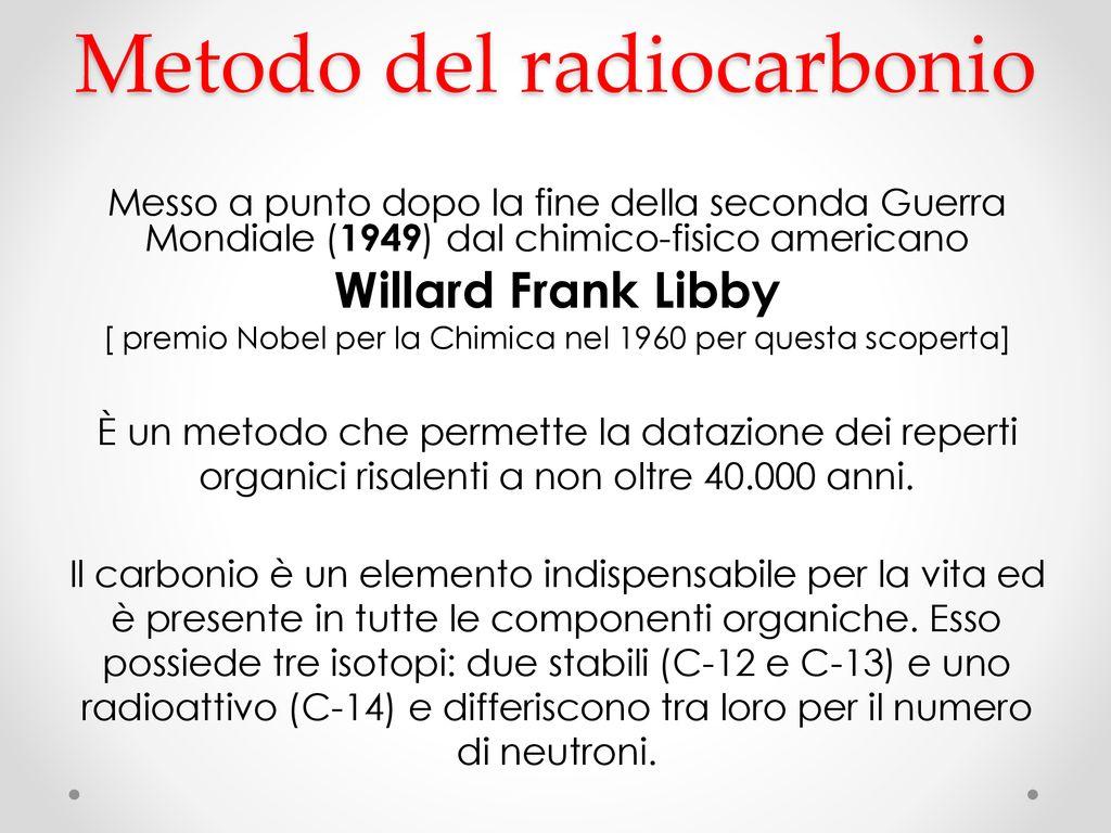 Analisi chimica con datazione radiocarbonica