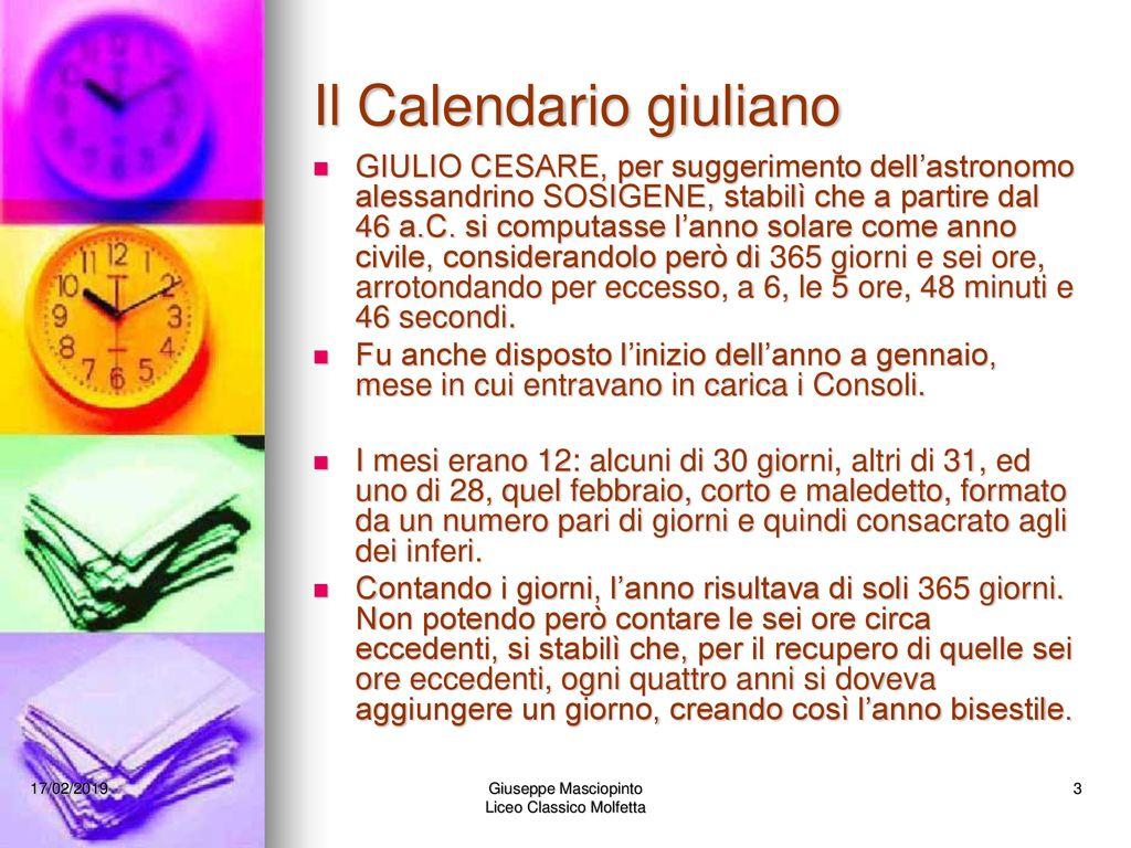Il Calendario Giuliano.Il Calendario Da Calare Proclamare Ppt Scaricare