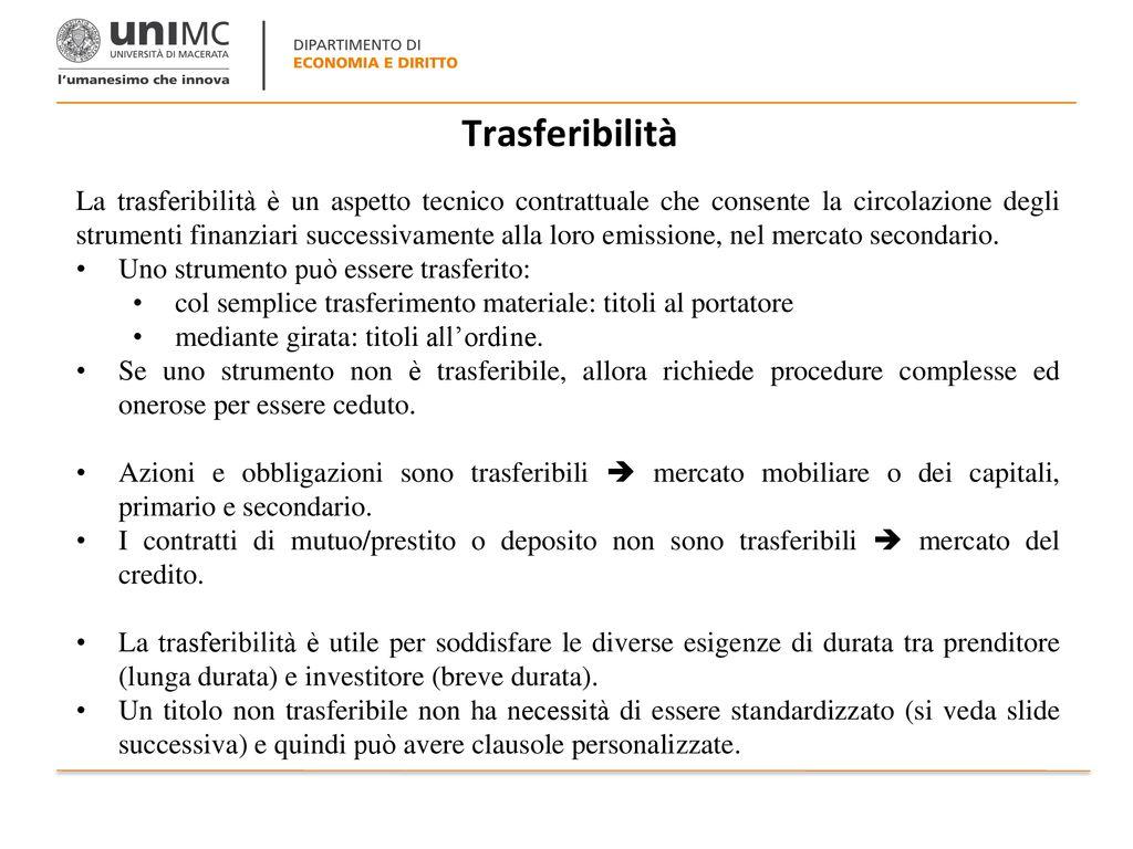68f2c88dbc STRUMENTI FINANZIARI Corso di Economia delle Istituzioni Finanziarie ...