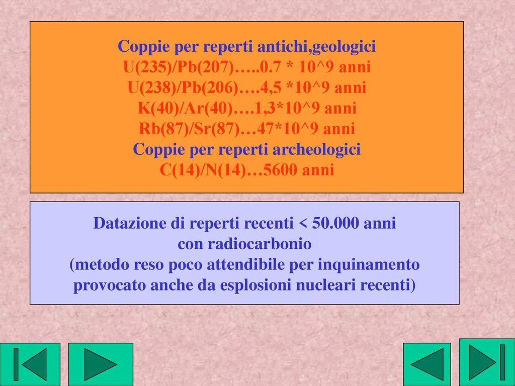 Isotopi di datazione geologica
