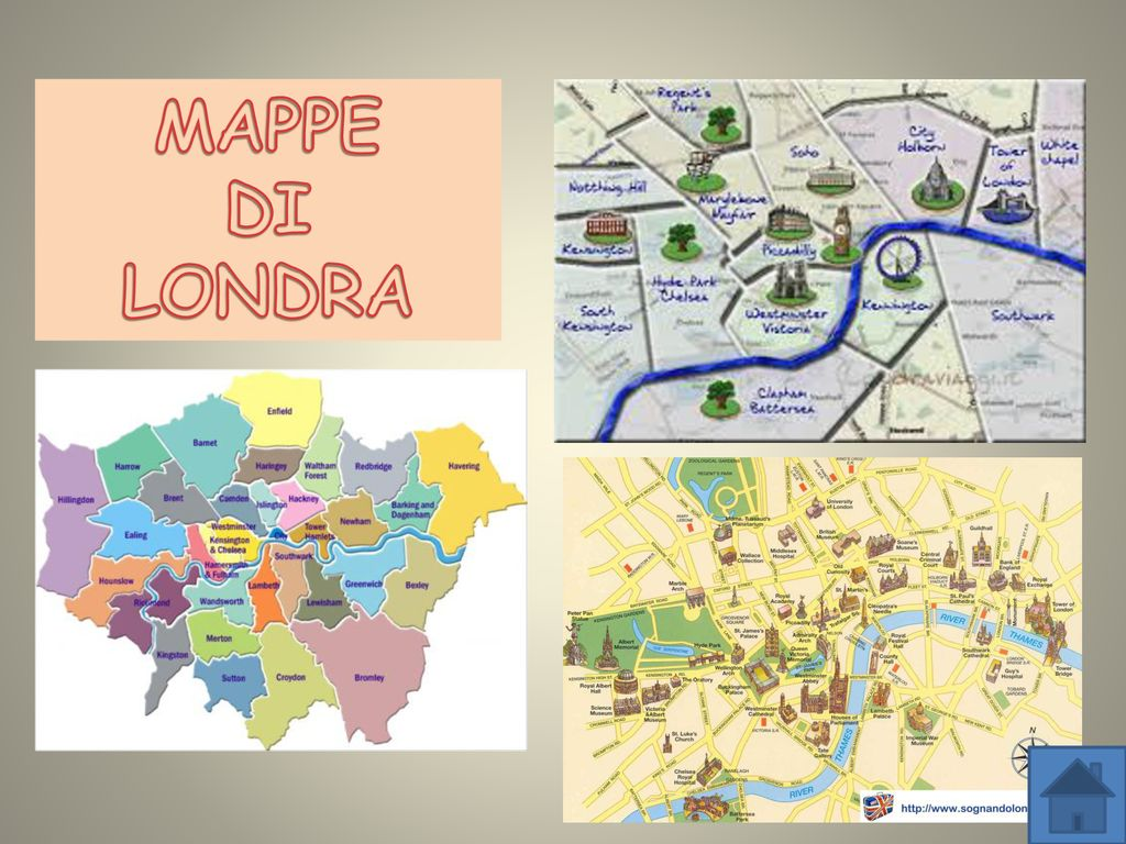 Cartina Dei Monumenti Di Londra