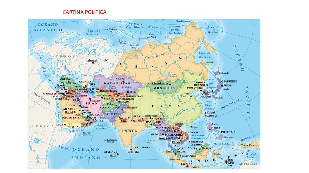 Cartina Asia Fisica Muta.Asia Il Piu Grande Continente Ppt Scaricare