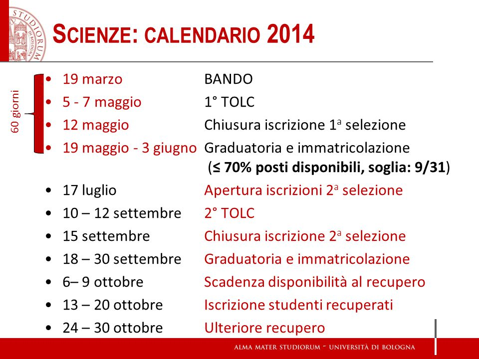 Tolc I Calendario.Modalita Di Accesso Ai Corsi Di Studio Della Scuola Di