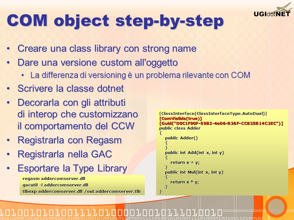 COM object step-by-step