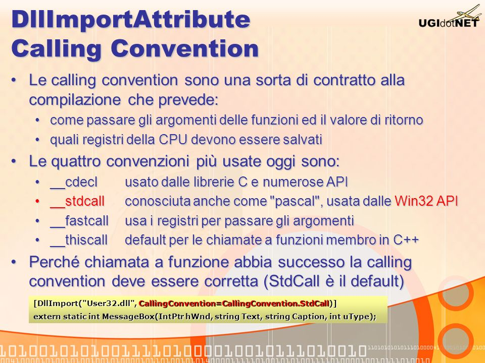 DllImportAttribute Calling Convention