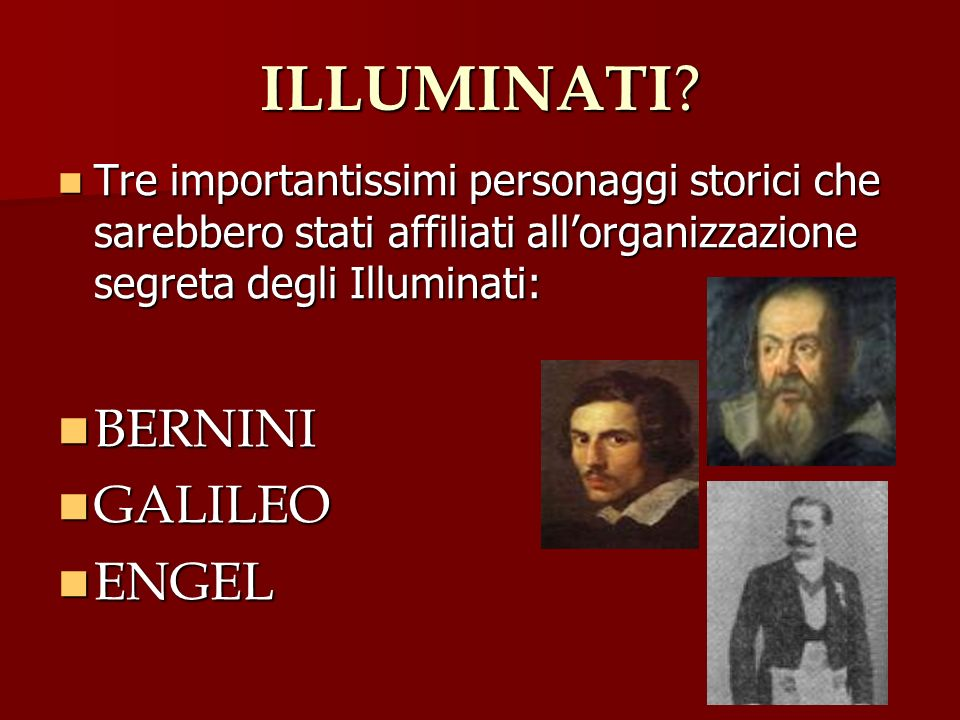ILLUMINATI BERNINI GALILEO ENGEL