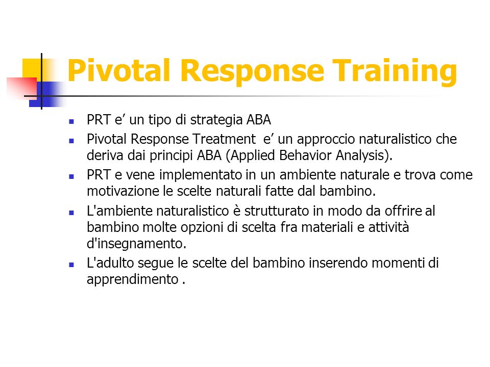 Pivotal Response Training