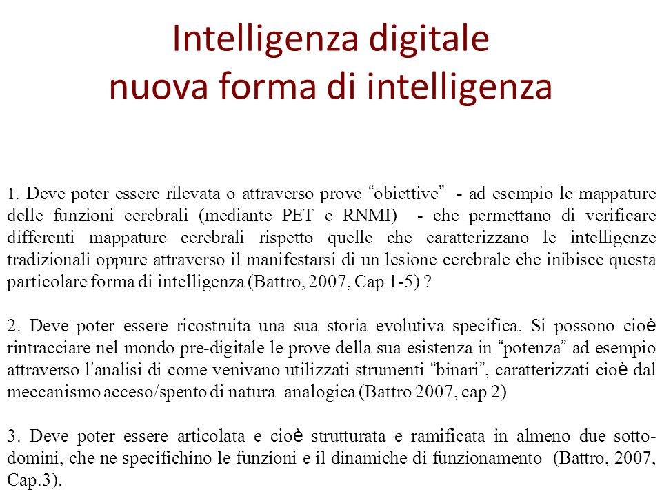 Intelligenza digitale nuova forma di intelligenza