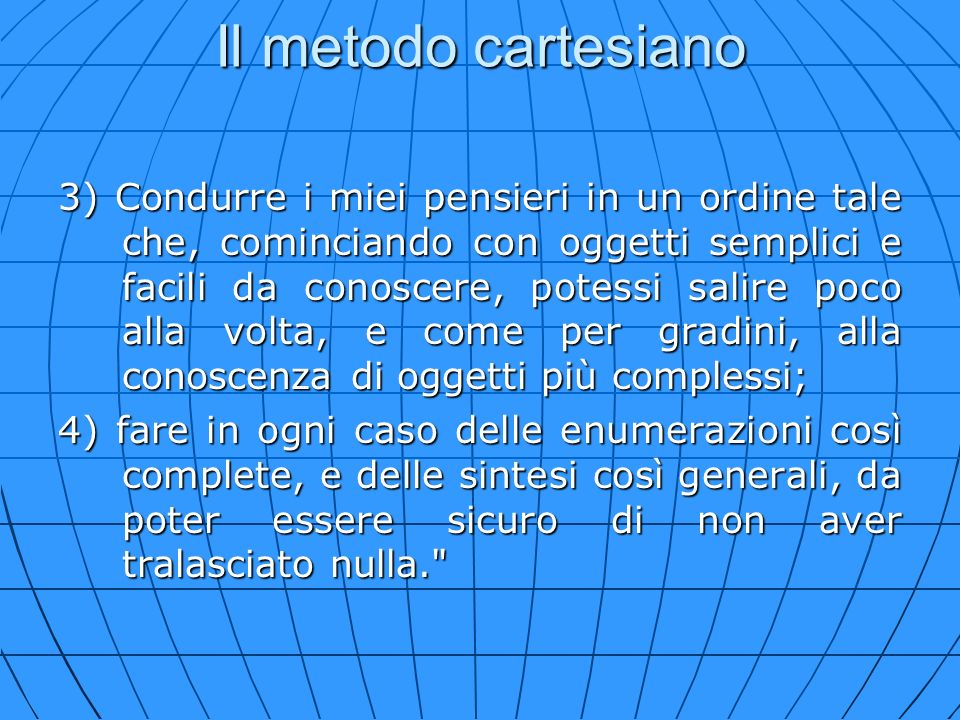 Il metodo cartesiano