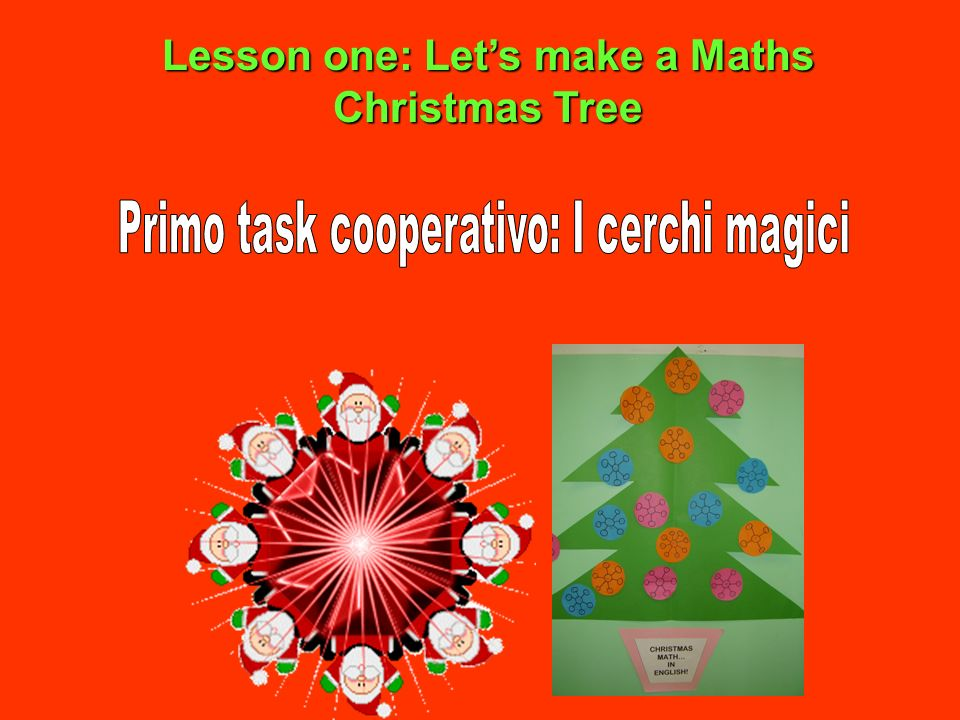 Lesson one: Let's make a Maths Christmas Tree