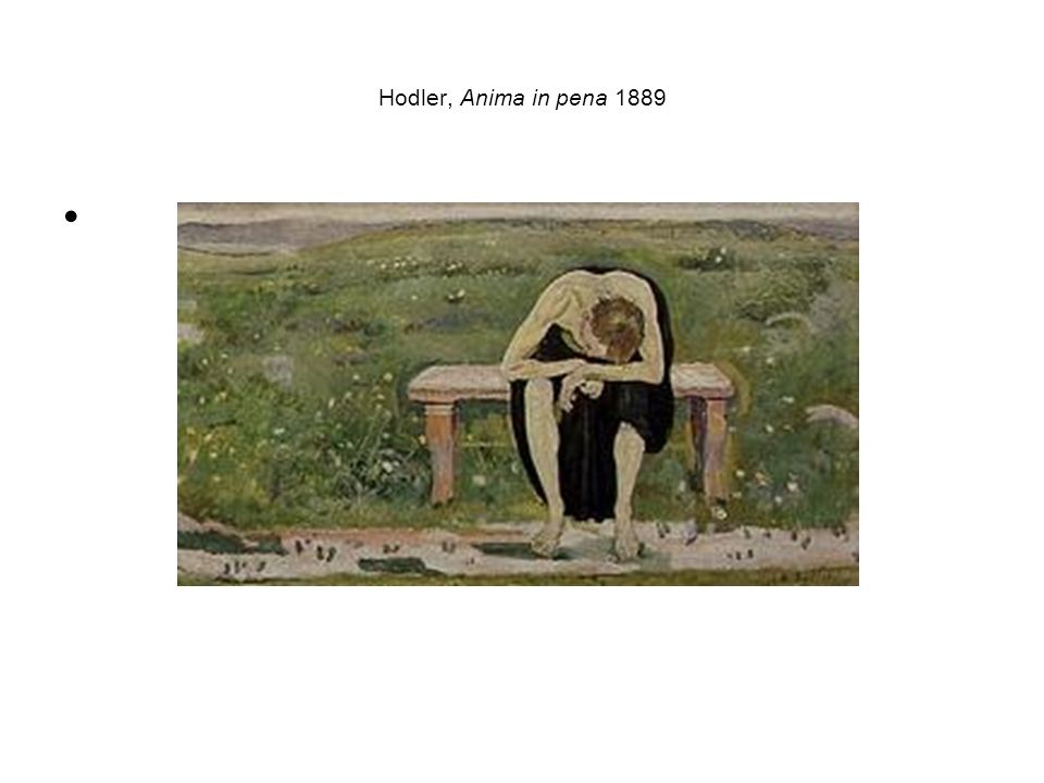 Hodler, Anima in pena 1889