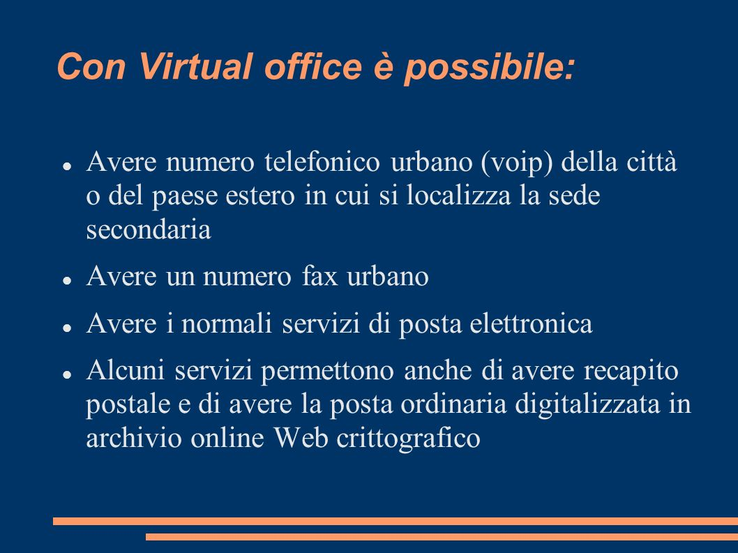 Con Virtual office è possibile: