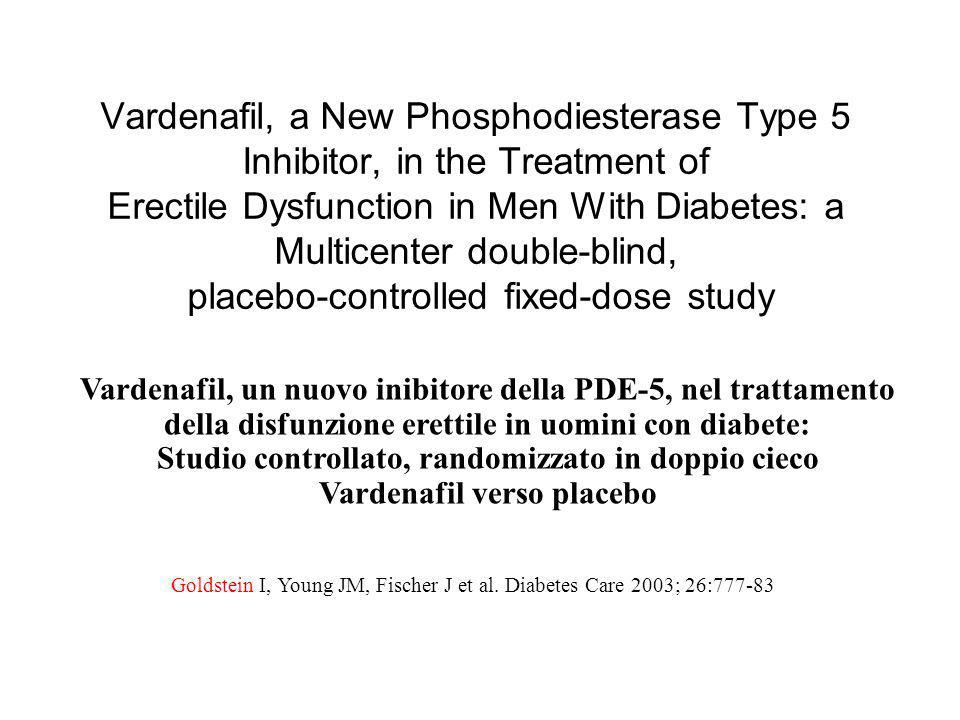 Vardenafil, a New Phosphodiesterase Type 5 Inhibitor, in the Treatment of Erectile Dysfunction in Men With Diabetes: a Multicenter double-blind, placebo-controlled fixed-dose study