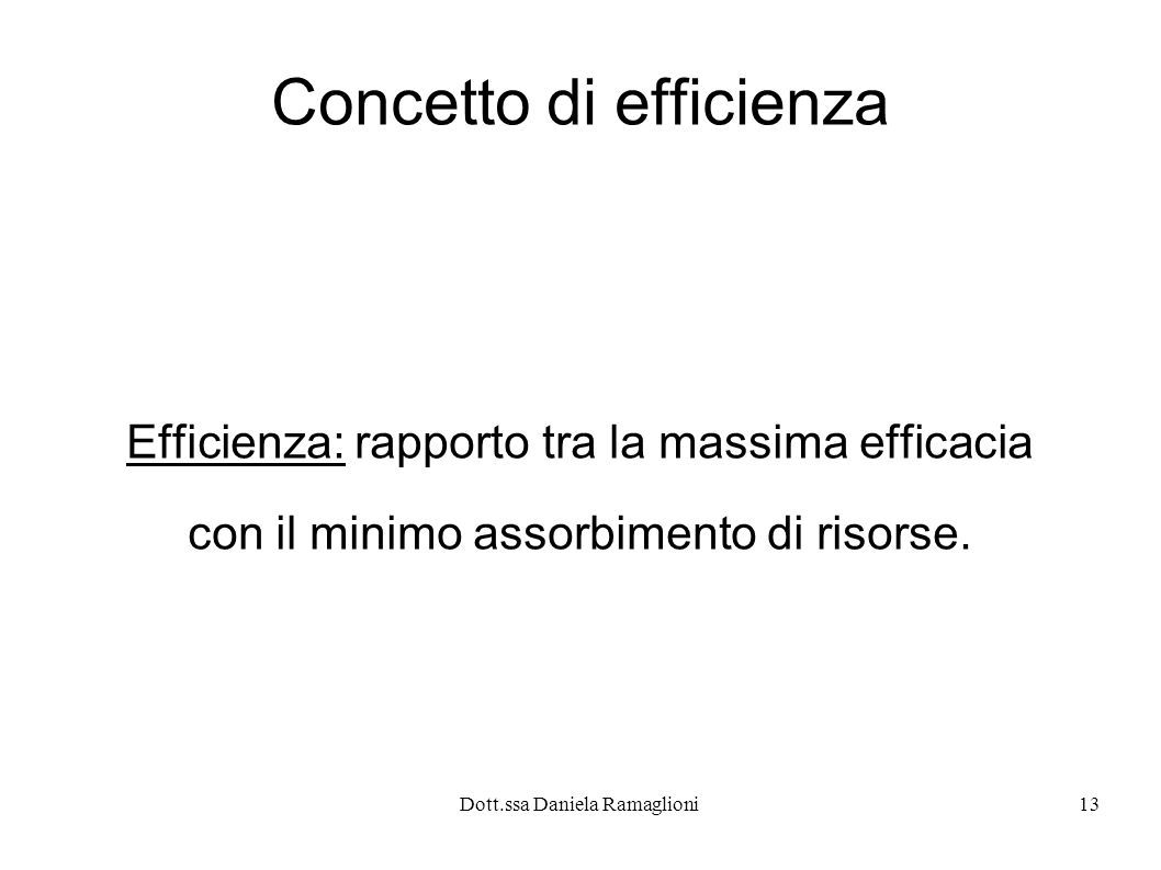 Concetto di efficienza