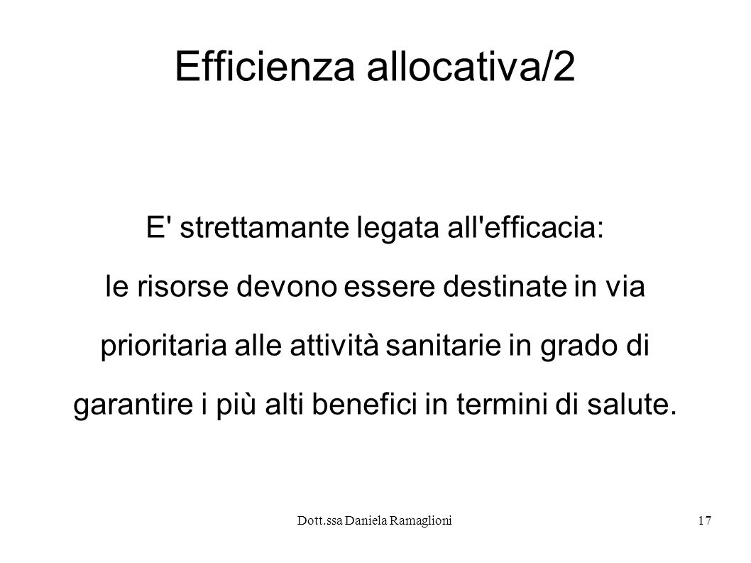 Efficienza allocativa/2