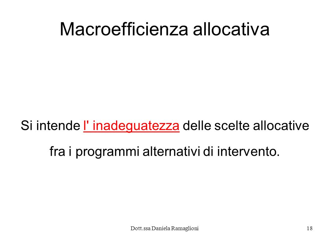 Macroefficienza allocativa