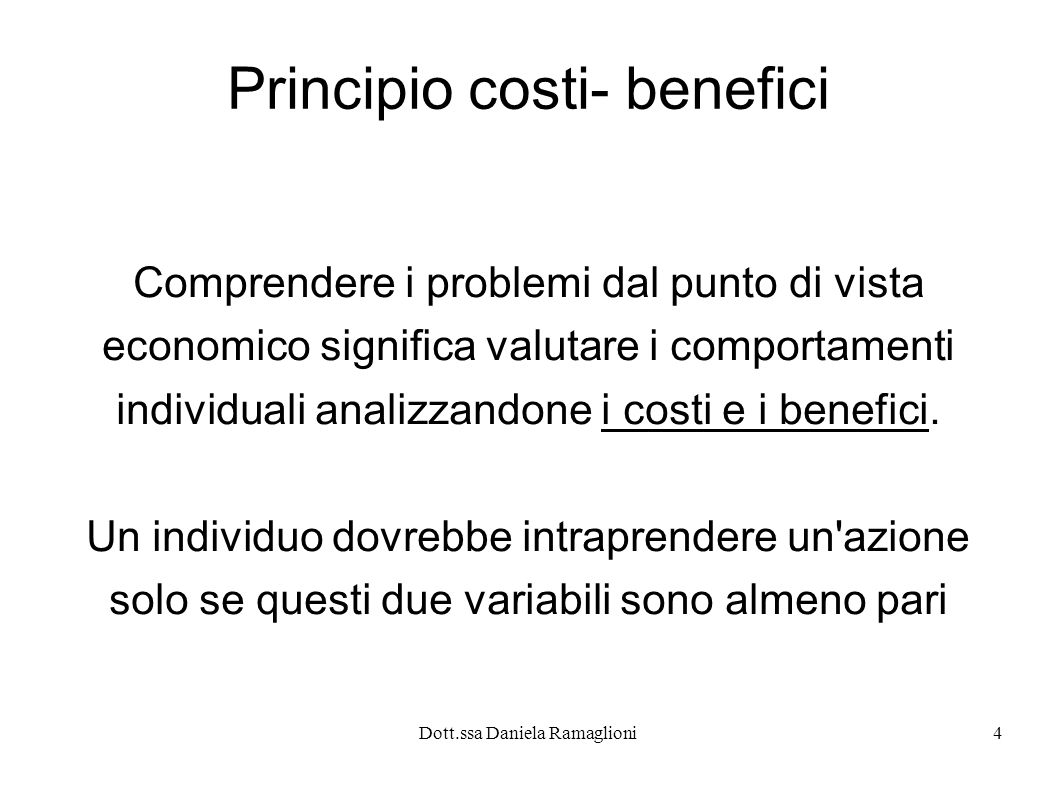 Principio costi- benefici