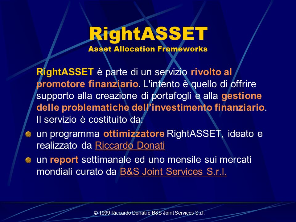 RightASSET Asset Allocation Frameworks