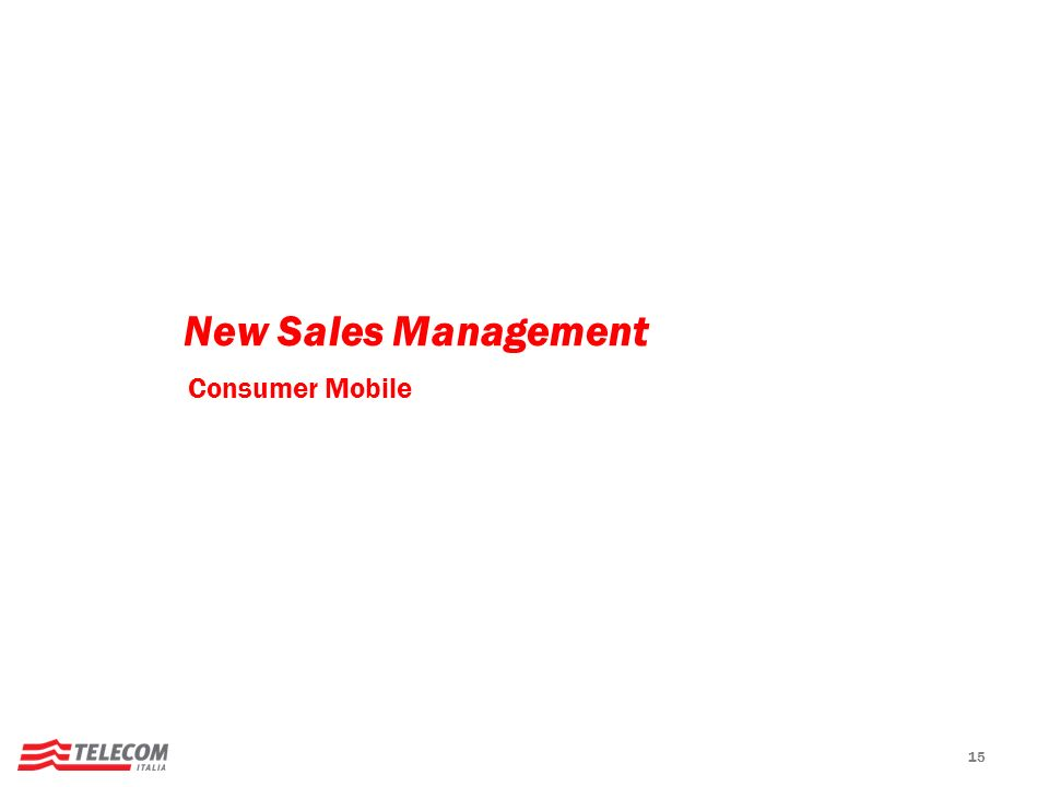 New Sales Management Consumer Mobile 15 15
