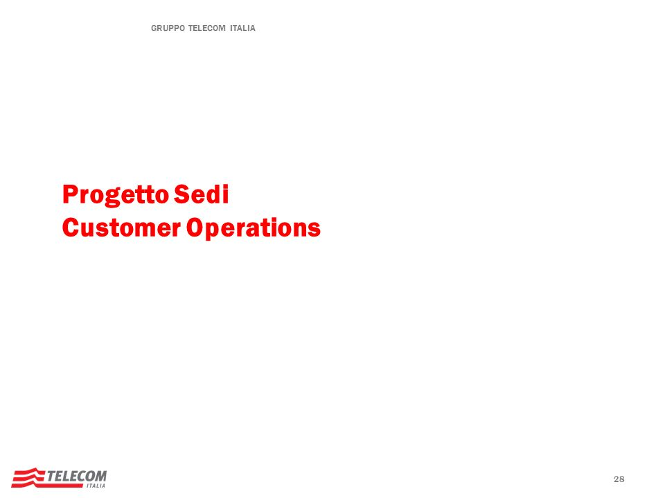 Progetto Sedi Customer Operations