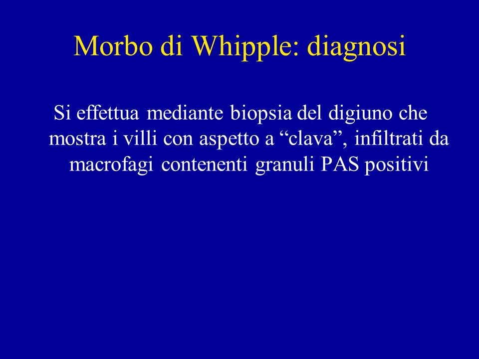 Morbo di Whipple: diagnosi