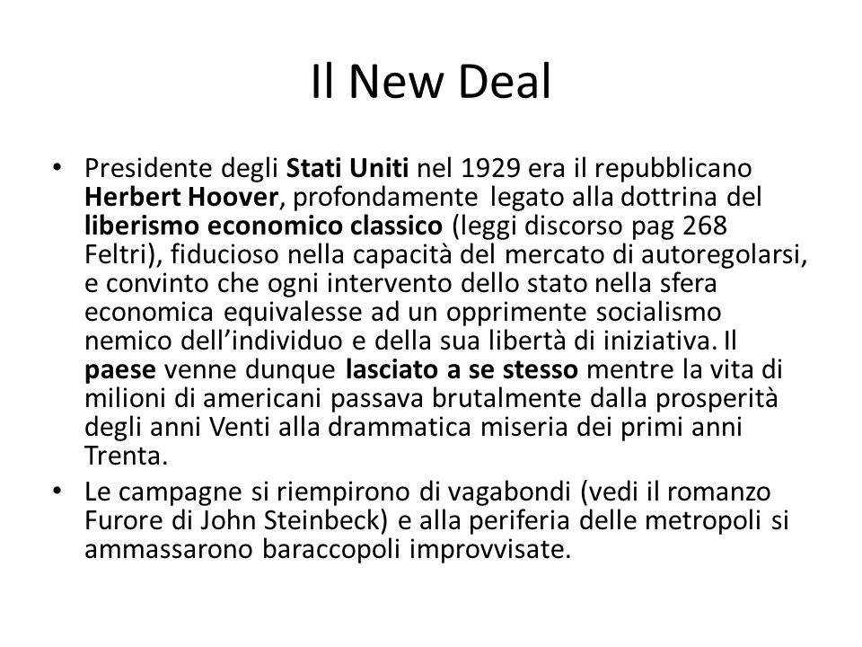 Il New Deal