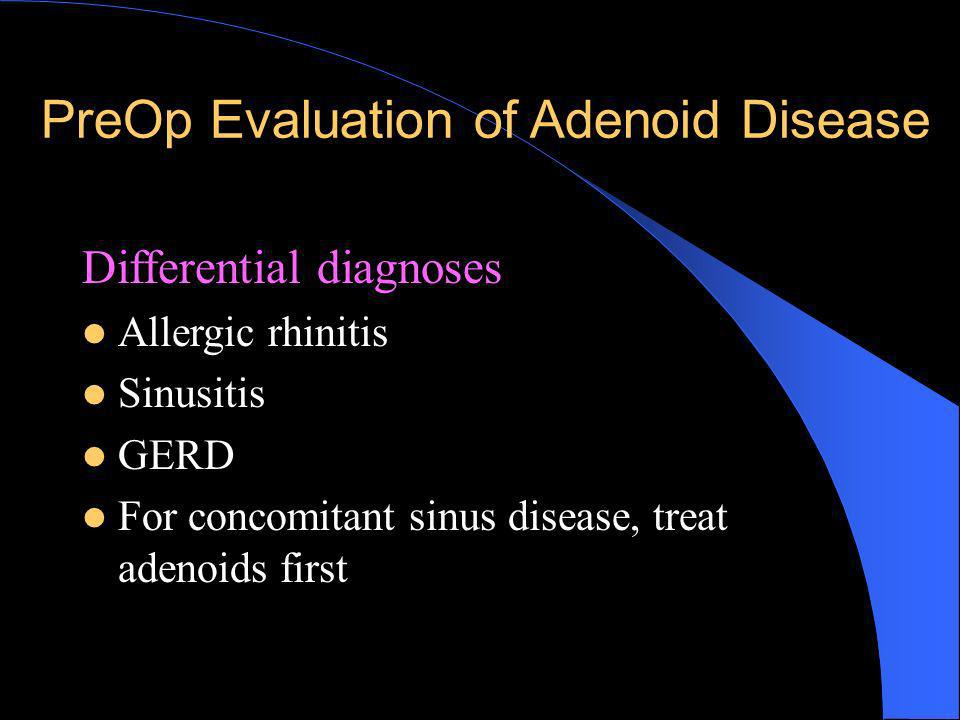 PreOp Evaluation of Adenoid Disease