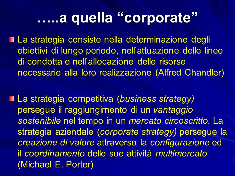 …..a quella corporate