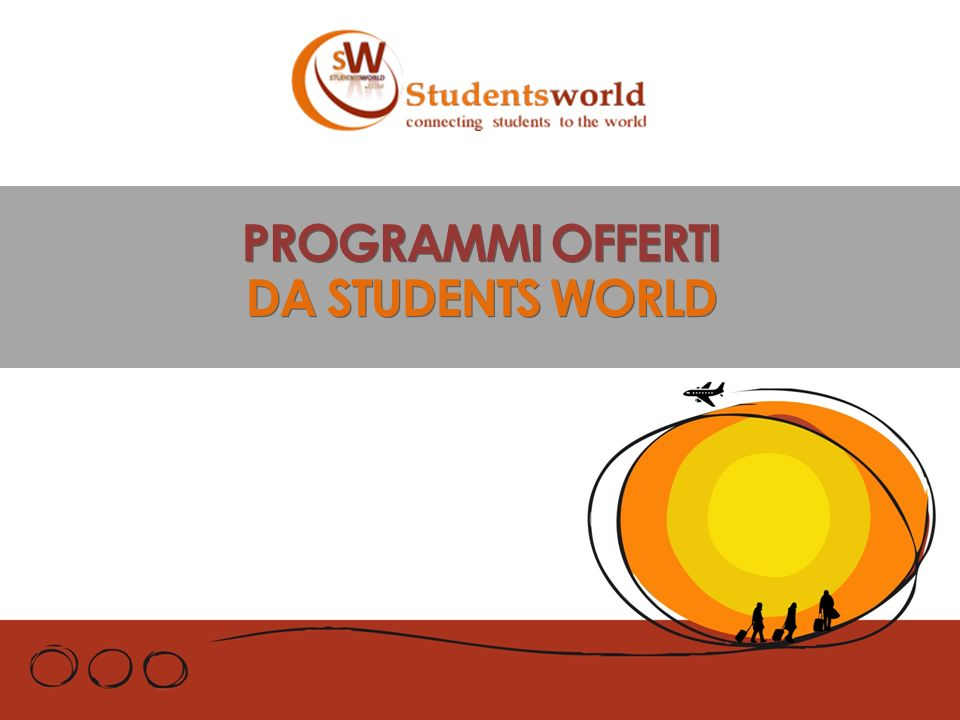 PROGRAMMI OFFERTI DA STUDENTS WORLD